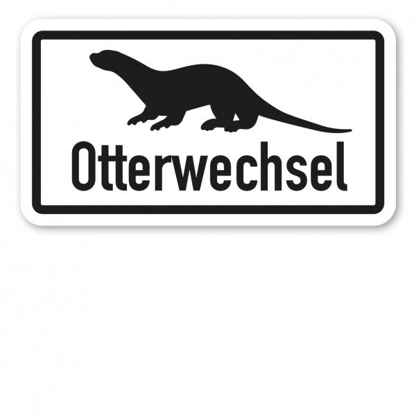 Zusatzzeichen Otterwechsel - Verkehrsschild VZ-21
