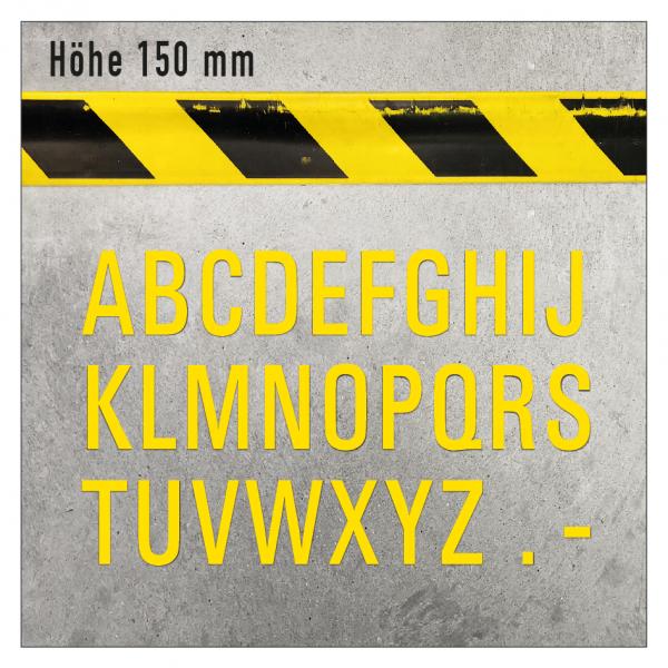 Selbstklebende Bodenmarkierung - Buchstaben