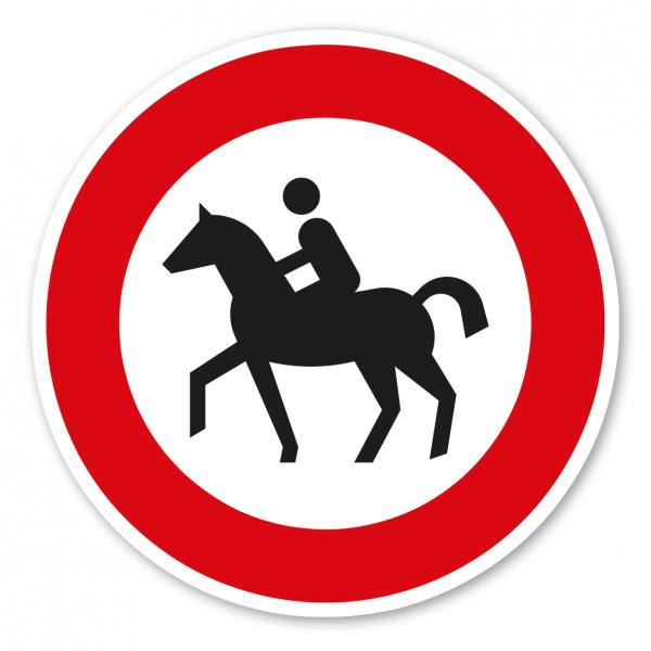 Verkehrsschild Verbot für Reiter – VZ 257-51