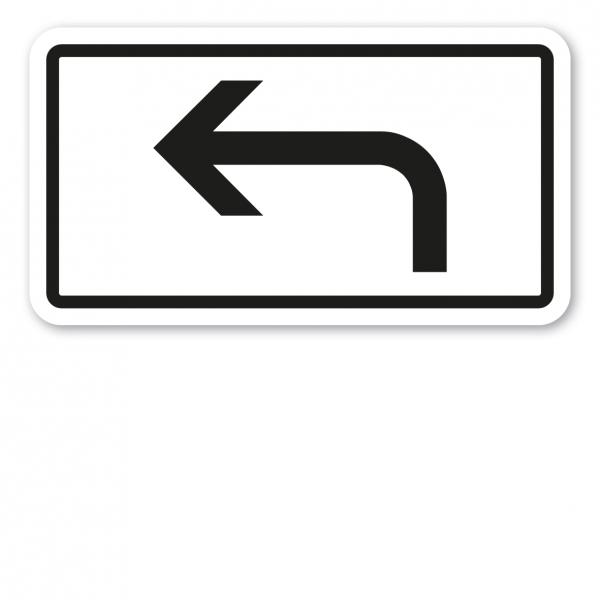 Zusatzzeichen Vorankündigung, Pfeil linksweisend - Verkehrsschild VZ-1000-11