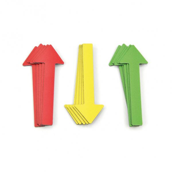 Magnetpfeile zur Schadensmarkierung Farb-Mix - drei Farben - für Sachverständige, KFZ-Gutachter, Präsentationen