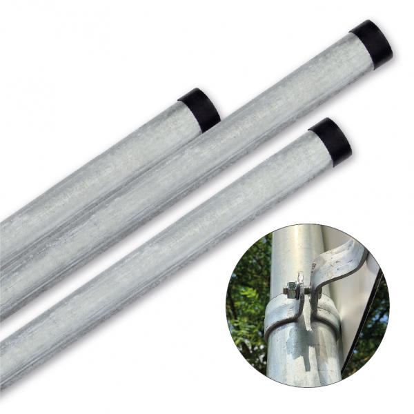 Rohrpfosten zur Schilderbefestigung – 3500 mm / Ø 60 mm