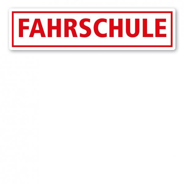 KFZ - Magnetschild Fahrschule