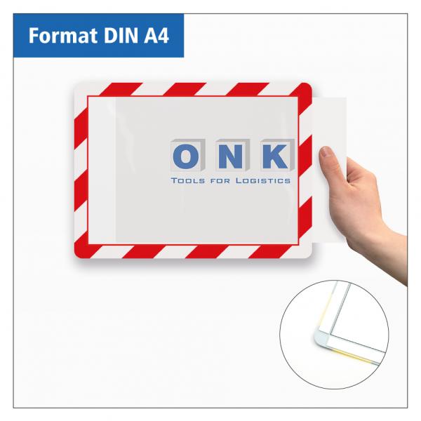 Kennzeichnungsrahmen - selbstklebend, zur Dokumentenpräsentation