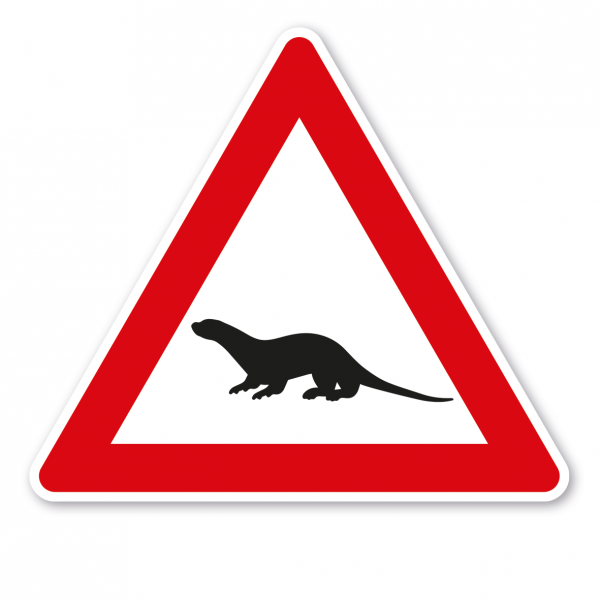 Verkehrsschild Achtung Otter – VZ-PR-39
