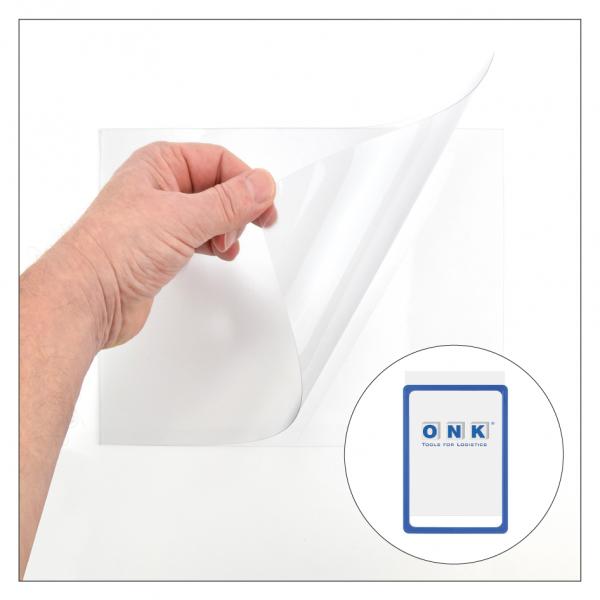 U-Taschen / Einstecktaschen für Plakatrahmen - transparent