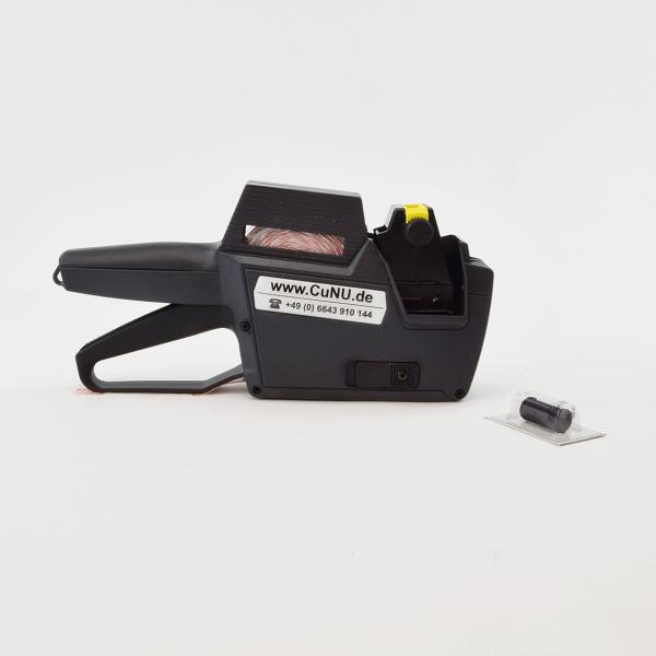 Preisauszeichner für Schweizer Franken Fr, Euro €, Datum und Nummern – Modell CuNU 2512 – für 25 x 12 mm Etiketten