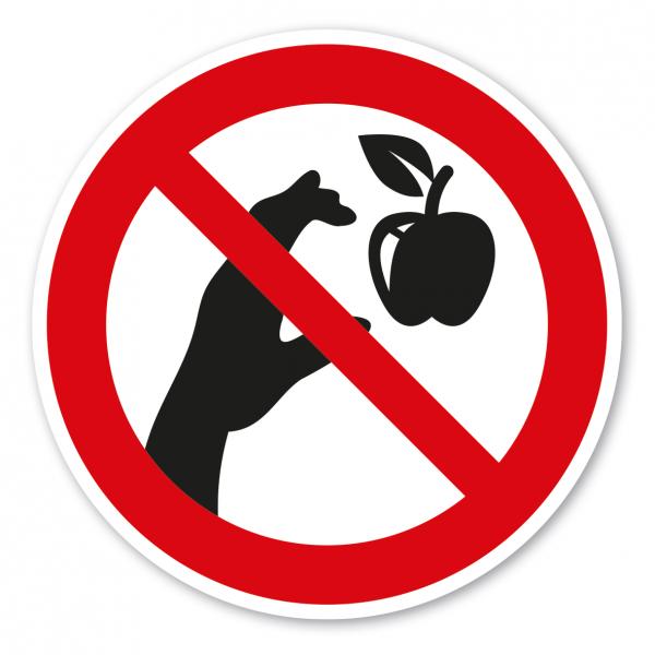 Verbotszeichen Äpfel pflücken verboten - Ernteschild