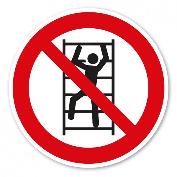 Verbotszeichen Aufsteigen - Klettern verboten – ISO 7010 - P009