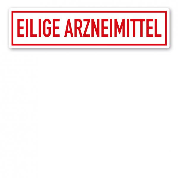 KFZ - Magnetschild Eilige Arzneimittel