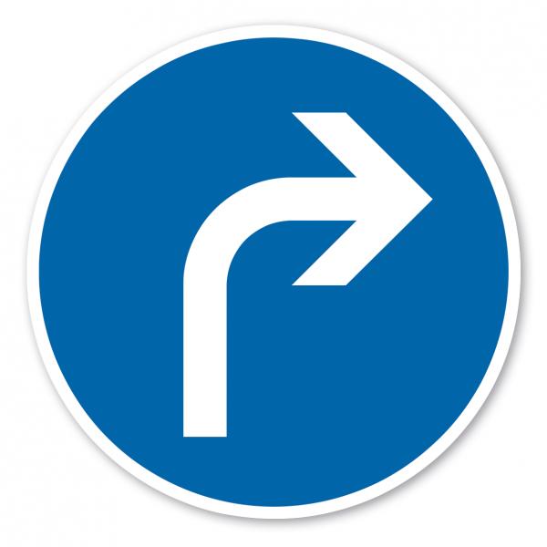 Verkehrsschild Vorgeschriebene Fahrtrichtung rechts – VZ 209