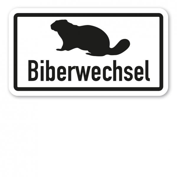 Zusatzzeichen Biberwechsel - Verkehrsschild VZ-22