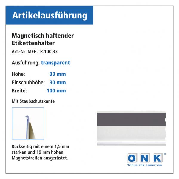 Magnetische Etikettenhalter für Einstecketiketten