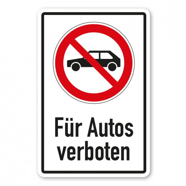 Verbotsschild Für Autos verboten - Kombi