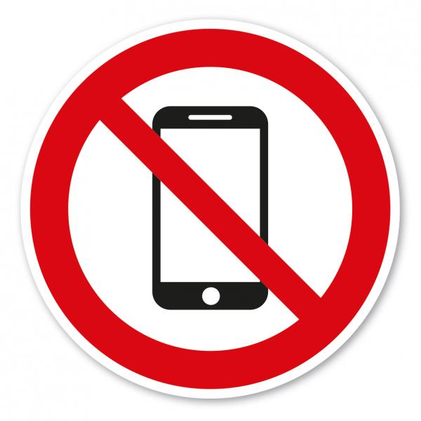 Verbotszeichen Handy-Smartphone-Mobil telefonieren verboten