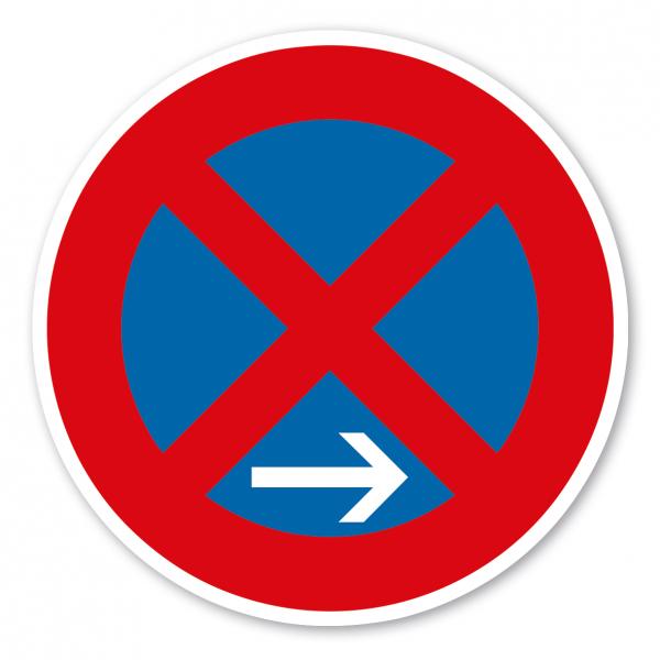 Verkehrsschild Absolutes Halteverbot Ende - Rechtsaufstellung – VZ 283-20