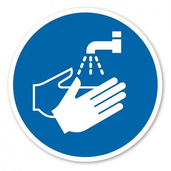 Bodenmarkierung - Gebotszeichen Hände waschen – ISO 7010 - M011