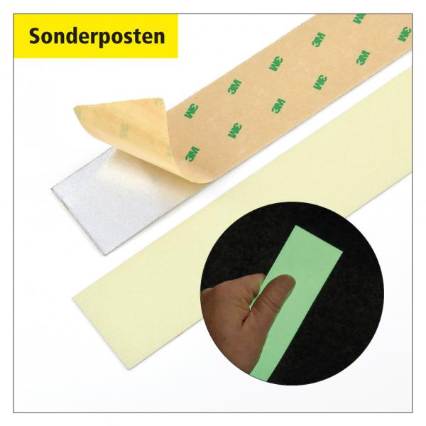 Sonderposten Nachleuchtende Bodenmarkierungsstreifen 3M - 800 x 50 mm, selbstklebend