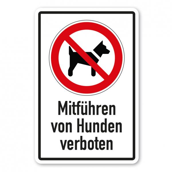 Verbotsschild Mitführen von Hunden verboten - Kombi – ISO 7010 - P021-K