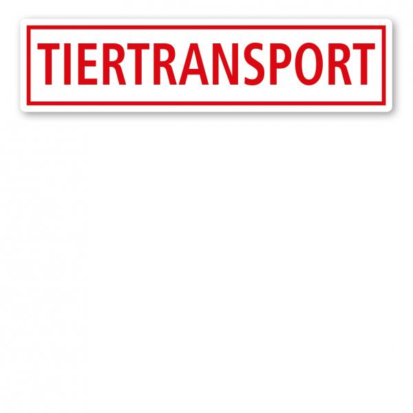 KFZ - Magnetschild Tiertransport