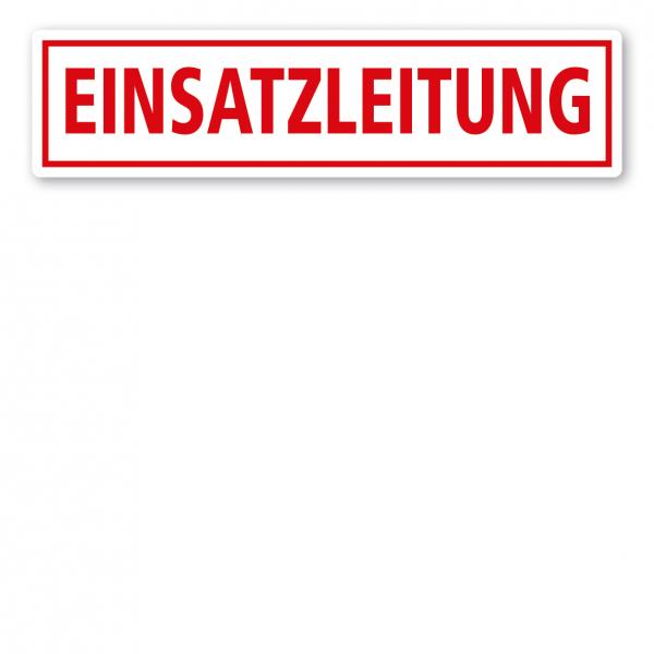 KFZ - Magnetschild Einsatzleitung