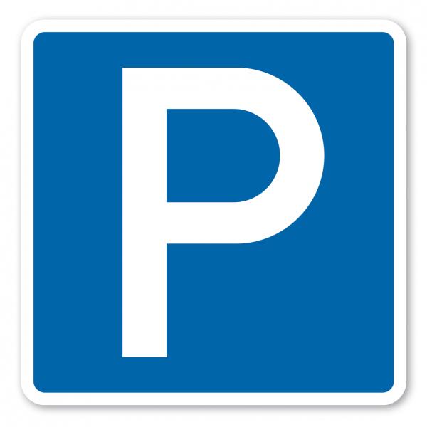 Parkplatzschild Parken - quadratisch - Verkehrsschild VZ 314