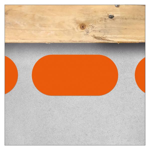 Bodenmarkierung - Oval (Linienstück)