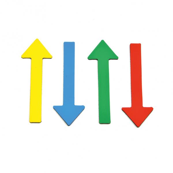 Magnetpfeile zur Schadensmarkierung Farb-Mix - vier Farben - für Sachverständige, KFZ-Gutachter, Präsentationen