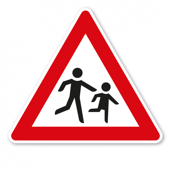 Verkehrsschild Achtung Kinder - Aufstellung links – VZ 136-20