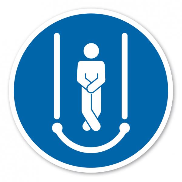 Gebotszeichen Arme und Beine kreuzen – Wasserrutschen