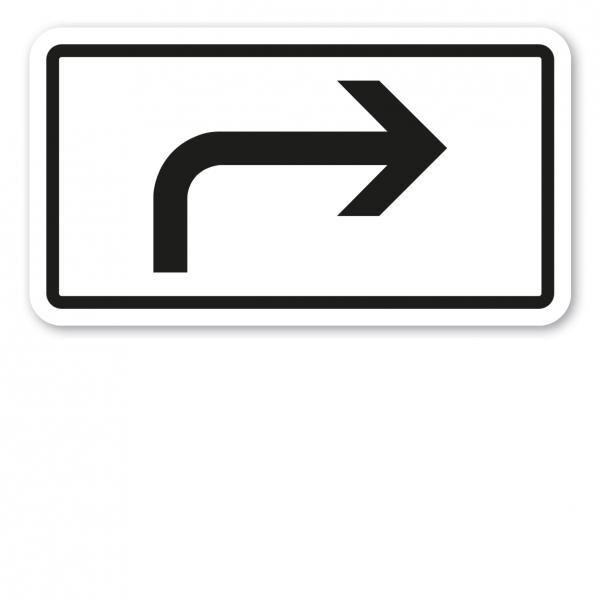 Zusatzzeichen Vorankündigung, Pfeil rechtsweisend - Verkehrsschild VZ-1000-21
