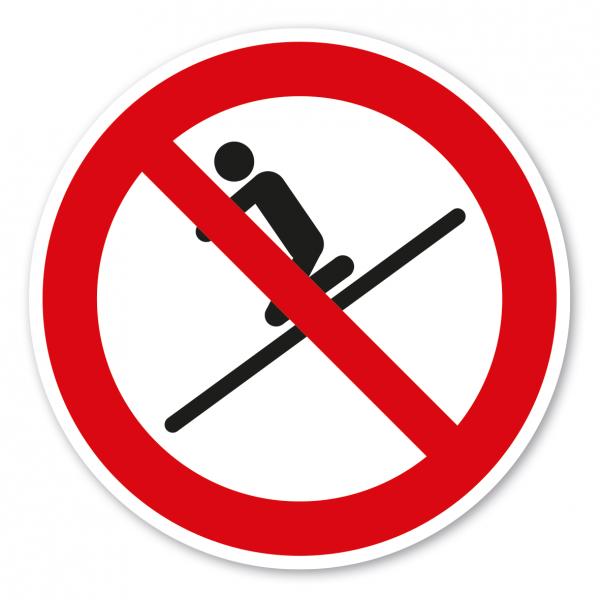 Verbotszeichen Kniend rutschen ist verboten – Wasserrutschen