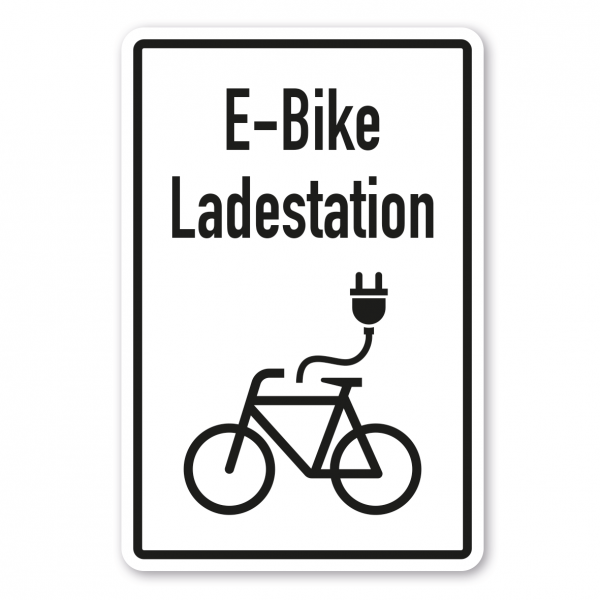 Hinweisschild E-Bike / Elektrofahrrad Ladestation