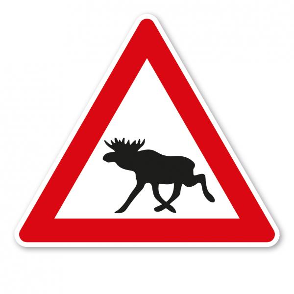 Verkehrsschild Achtung Elch (Elche) – VZ-PR 34