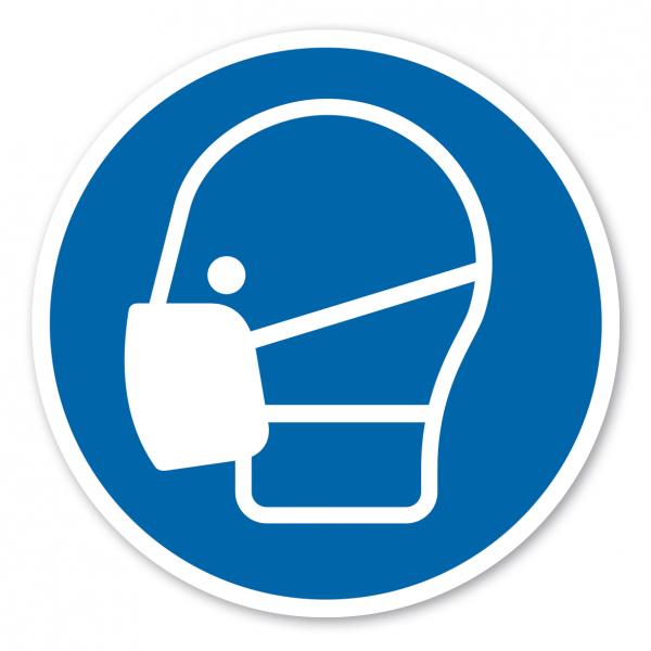 Bodenmarkierung - Gebotszeichen Maske benutzen – ISO 7010 - M016