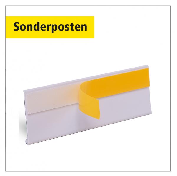 Sonderposten Etikettenhalter 1.250 x 33 mm selbstklebend weiß - 100 Stück