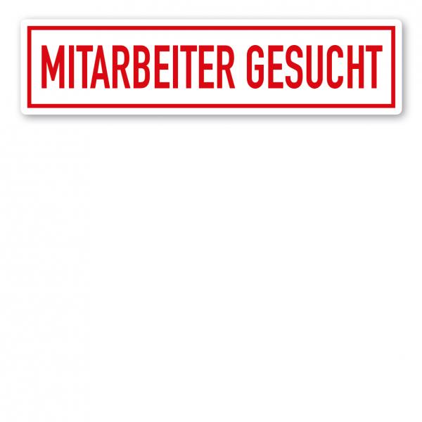 KFZ - Magnetschild Mitarbeiter gesucht