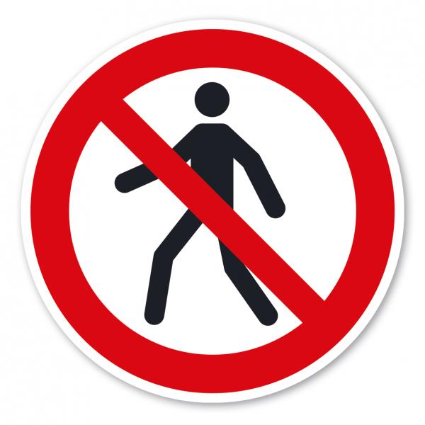 Verbotszeichen Für Fußgänger verboten – ISO 7010 - P004
