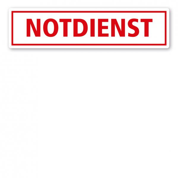 KFZ - Magnetschild Notdienst
