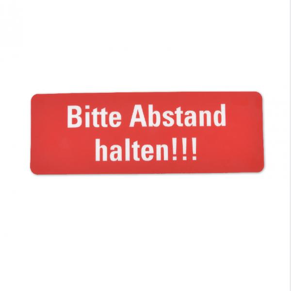 Bodenmarkierung - Bitte Abstand halten - 300 x 100 mm rot