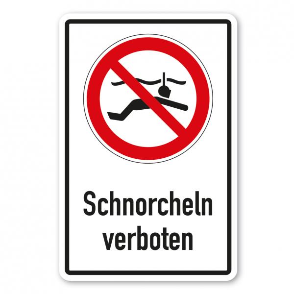 Verbotsschild Schnorcheln verboten - Kombi – ISO 20712-1-WSP-003-K