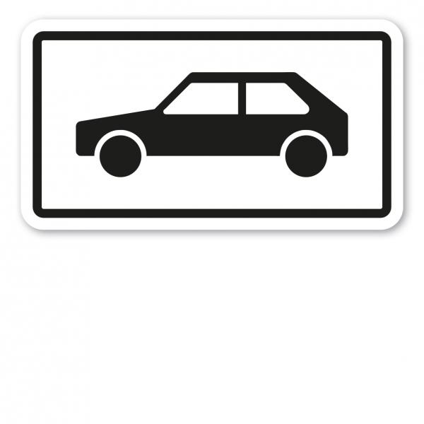 Zusatzzeichen Personenkraftwagen - PKW - Verkehrsschild VZ-1048-10
