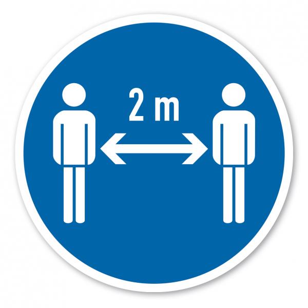 Bodenmarkierung - Gebotszeichen 2 m Abstand zu anderen Personen halten