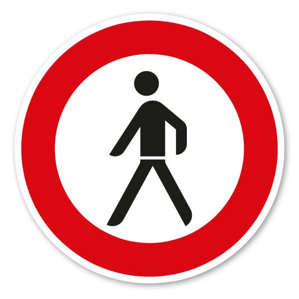 Verkehrsschild Verbot für Fußgänger – VZ 259