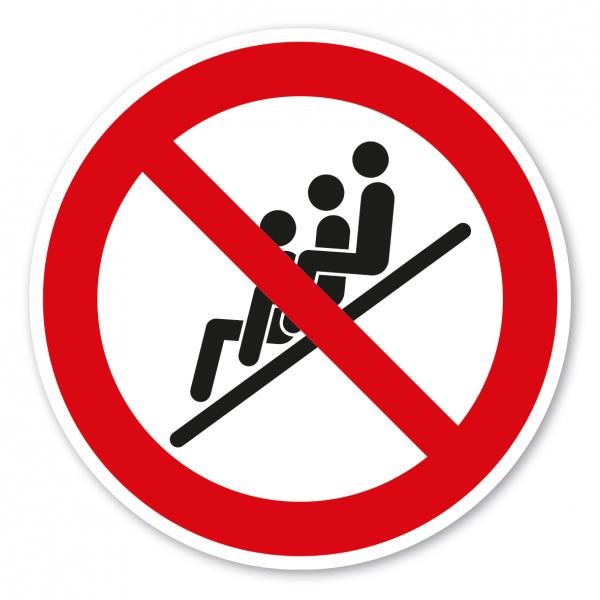 Verbotszeichen Kettenrutschen nicht zulässig – Wasserrutschen