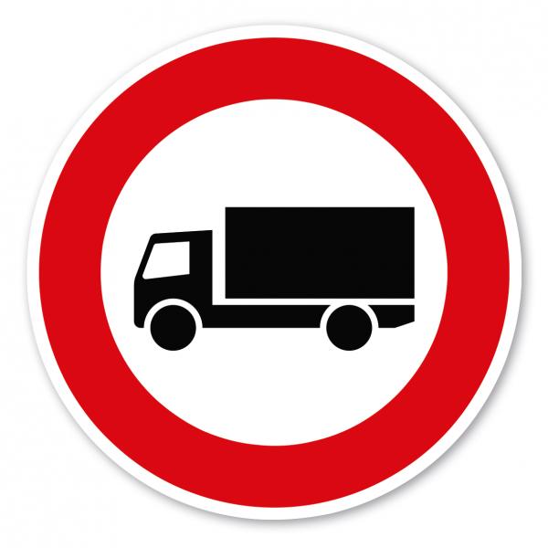 Verkehrsschild Verbot für Kraftfahrzeuge mit einem zulässigen Gesamtgewicht über 3,5 Tonnen - individuelle Angabe – VZ 253