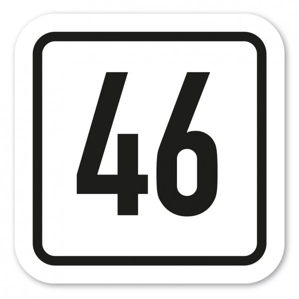 Individuelle Nummerierungs-Schilder zur Kennzeichnung von Stellplätzen, Parkplätzen, Kellerräumen u.a. – quadratisch