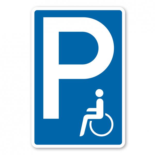 Parkplatzschild Behindertenparkplatz - Verkehrsschild