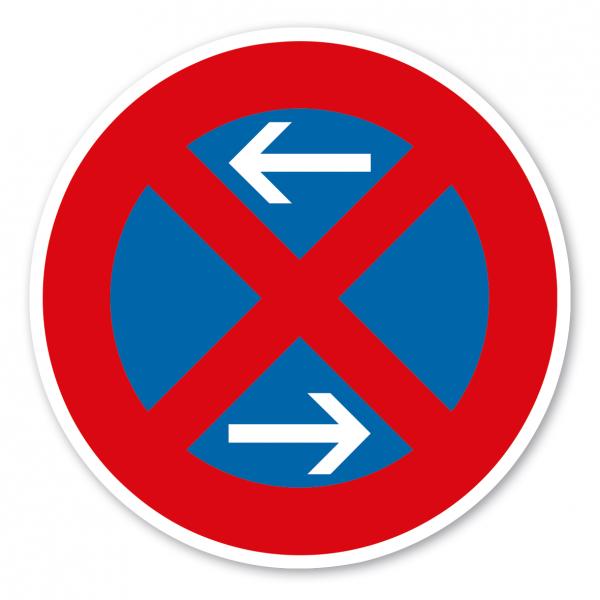 Verkehrsschild Absolutes Halteverbot Mitte - Rechtsaufstellung – VZ 283-30
