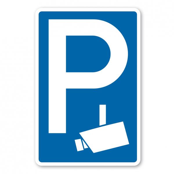 Parkplatzschild Videoüberwacht - Verkehrsschild